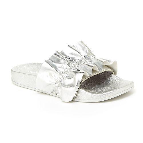 Unionbay Miraculous Women's Metallic Slide Sandals