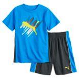 Boys 4-7 PUMA Graphic Performance Tee & Shorts Set