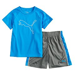 Boys 4-7 PUMA Logo Performance Tee & Shorts Set