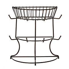 Gourmet Basics Marketplace Mug Tree with Basket