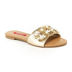 Unionbay Women's Metallic Slide Sandals