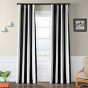 EFF Blackout 1-Panel Awning Striped Window Curtain