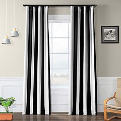 EFF Awning Striped Blackout Window Curtain