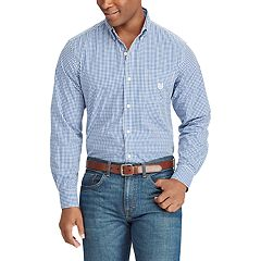 Men's Chaps Regular-Fit Gingham Plaid Button-Down Shirt