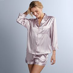 Women's Apt. 9® Satin Shirt & Shorts Pajama Set
