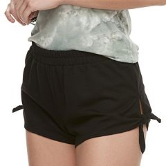 Juniors' Cloud Chaser Side Tie Shortie Shorts