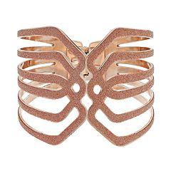 Rose Gold Glittery Openwork Hinge Bracelet
