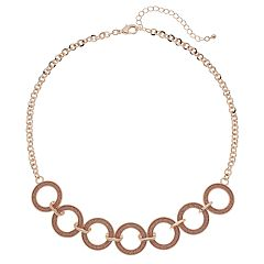 Glitter Circle Necklace