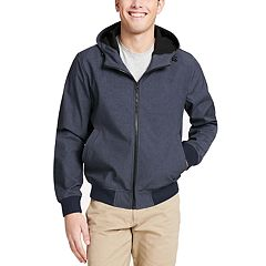 Men's Dockers Chase Softshell Performance Hooded Bomber Jacket