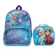 Disney's Frozen Anna & Elsa Kids Backpack & Lunch Bag Set