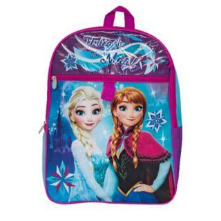 Disney's Frozen Anna & Elsa Kids Backpack, Cinch Sack, Lunch Bag, Zip Pouch & Water Bottle Set