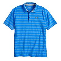 Men's Under Armour Charged Cotton Scramble Striped Golf Polo
