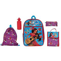 Disney's Elena of Avalor Kids Backpack, Cinch Sack, Lunch Bag, Zip Pouch & Water Bottle Set