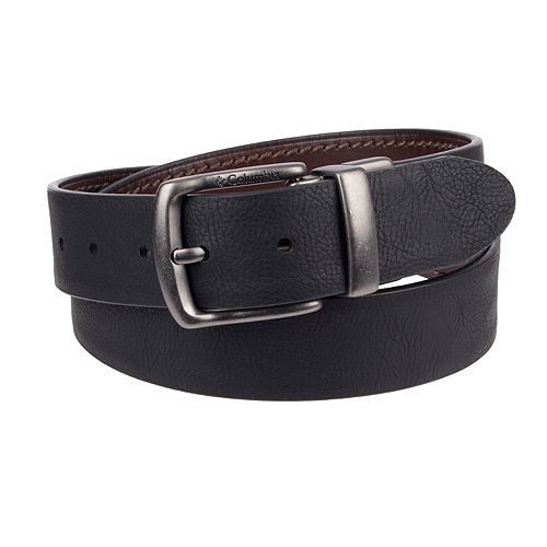 Men's Columbia Elevated Leather Reversible Casual Belt
