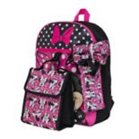 Disney's Minnie Mouse Kids Backpack, Cinch Sack, Lunch Bag, Zip Pouch & Water Bottle Set