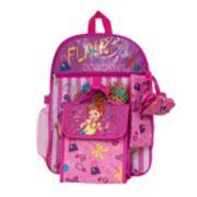 Disney's Fancy Nancy Kids Backpack, Cinch Sack, Lunch Bag, Zip Pouch & Water Bottle Set