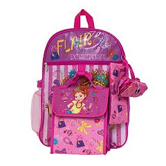 Disney's Fancy Nancy Kids Backpack, Cinch Sack, Lunch Bag, Zip Pouch & Water Bottle Set