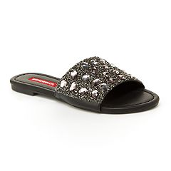 Unionbay Prague Women's Metallic Slide Sandals