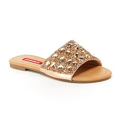 Unionbay Prague Women's Metallic Slide Sandals