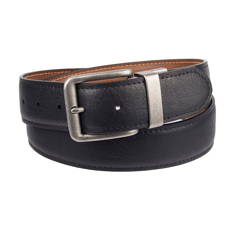 Men's Urban Pipeline® Reversible Constrast-Stitching Belt, Size: Small, Grey