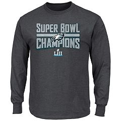 Men's Philadelphia Eagles Super Bowl LII Champions Sudden Impact Long-Sleeve Tee