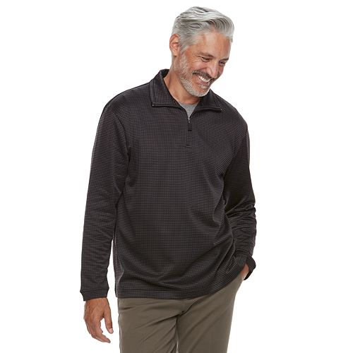 Men's Haggar In-Motion Stretch Quarter-Zip Pullover