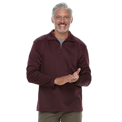 Men's Haggar In-Motion Stretch Quarter-Zip Pullover
