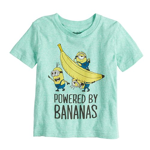 Toddler Boys Minions Powered by Bananas T-Shirt Teal
