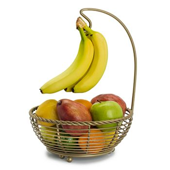 Gourmet Basics Rope Fruit Basket with Banana Hanger