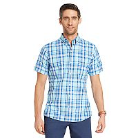 Big & Tall IZOD CoolFX Classic-Fit Plaid Moisture-Wicking Button-Down Shirt
