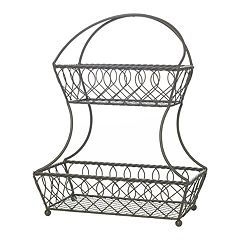 Gourmet Basics Loop & Lattice 2 tier Basket