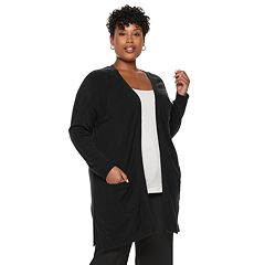 Plus Size Napa Valley Raglan Sleeve Long Cardigan