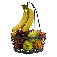 Gourmet Basics Rustic Farmstand Fruit Basket with Banana HOOK