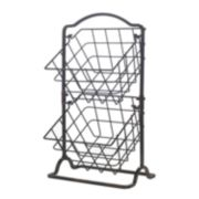 Gourmet Basics General Store 2-Tier Hanging Basket