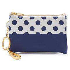 LC Lauren Conrad Sweet Dots Key Chain Coin Pouch