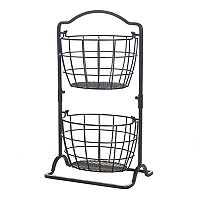 Gourmet Basics Harbor 2 tier Hanging Basket