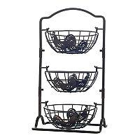 Gourmet Basics Rooster 3 tier Hanging Basket