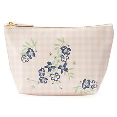 LC Lauren Conrad Floral Gingham Cosmetic Bag