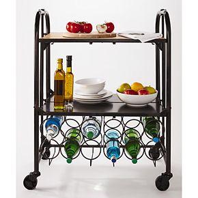 Gourmet Basics Artesa Hadamar Folding Bar Cart
