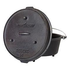 Camp Chef 12-Quart Cast-Iron Deluxe Dutch Oven