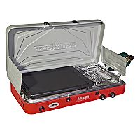 Camp Chef Mountain Series Rainier Two-Burner Stove with Griddle