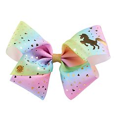 Girls 4-16 JoJo Siwa Unicorn & Heart Rainbow Hair Bow
