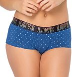 "Juniors' SO® ""Love"" Graphic Boyshort Panty"