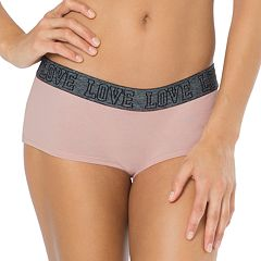 Juniors' SO® 'Love' Graphic Boyshort Panty
