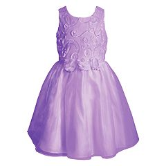 Toddler Girl Young Hearts Rosette Soutache Dress