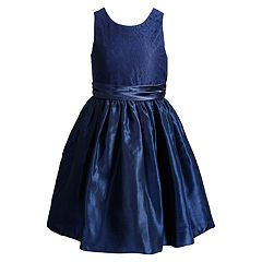 2fd41af3a2 Toddler Girl Young Hearts Lace Dress. Navy White Pink