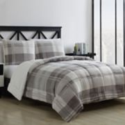VCNY Home Kole Plaid to Faux Fur 3-piece Reversible Comforter Set