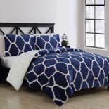VCNY Home James Trellis to Faux Fur 3-piece Reversible Comforter Set