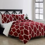 VCNY Home James Trellis to Faux Fur 3-piece Reversible Comforter Set