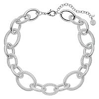 Dana Buchman Textured Oval Link Collar Necklace